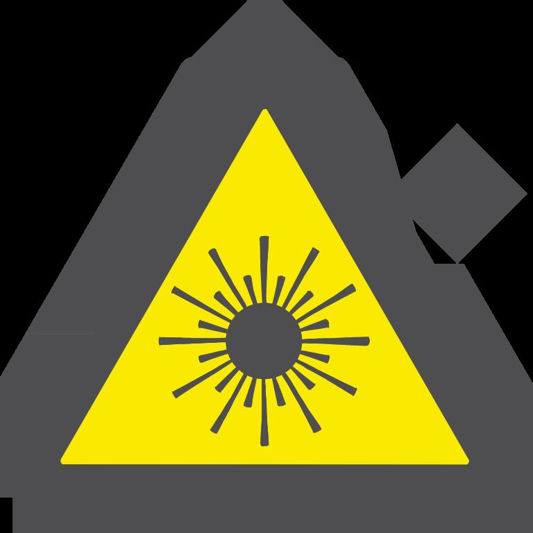 レーザー注意