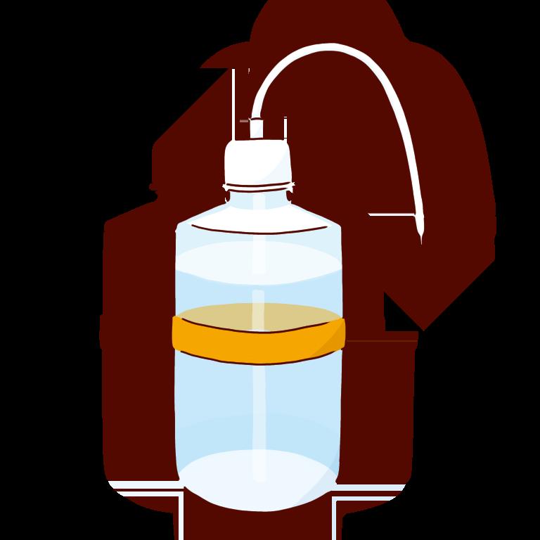 オレンジの洗ビン