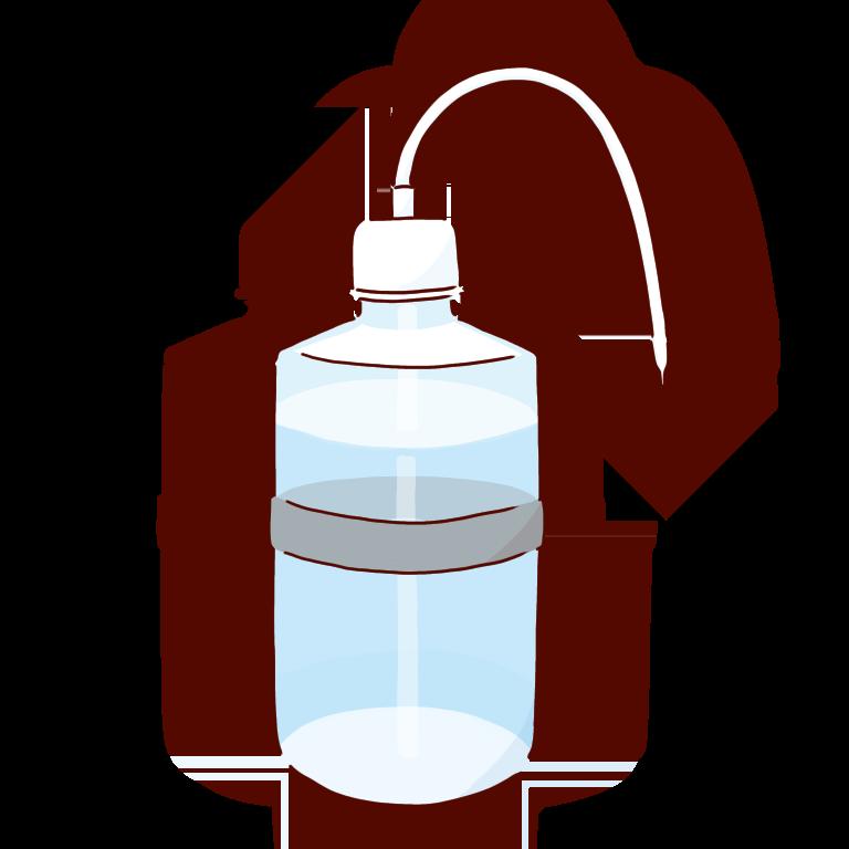 グレーの洗ビン