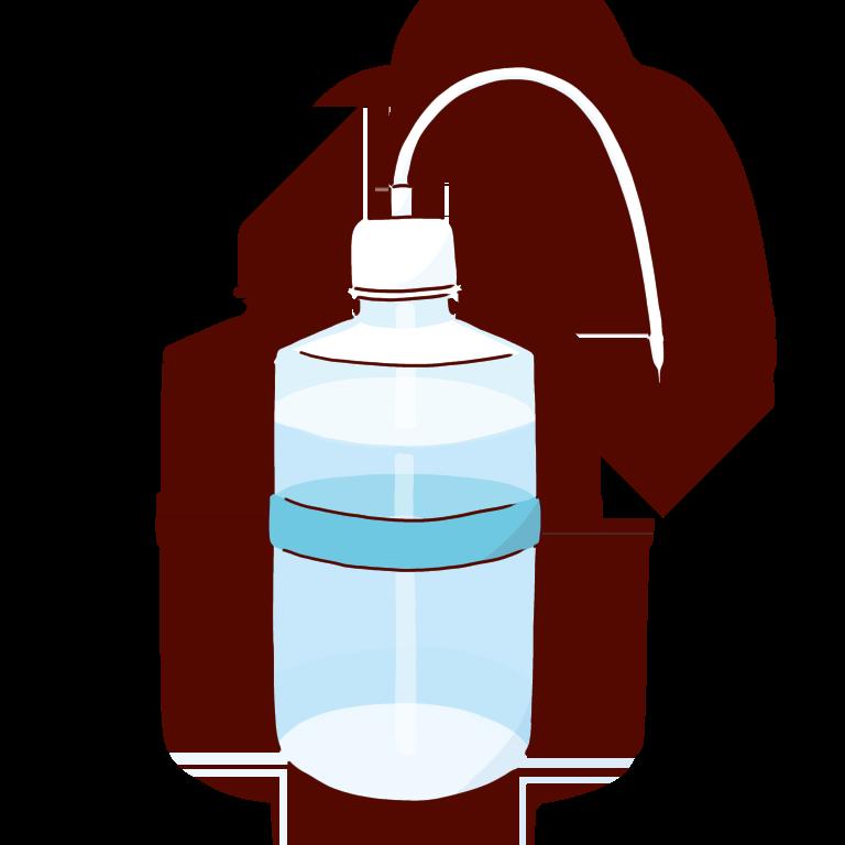 水色の洗ビン