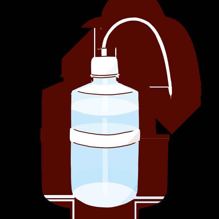 白い洗ビン