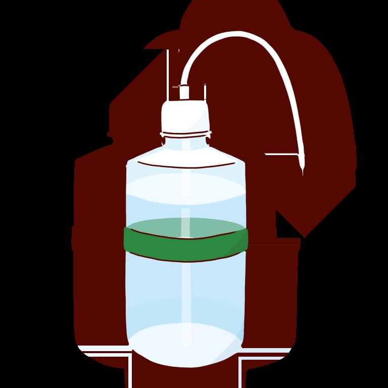 緑の洗ビン