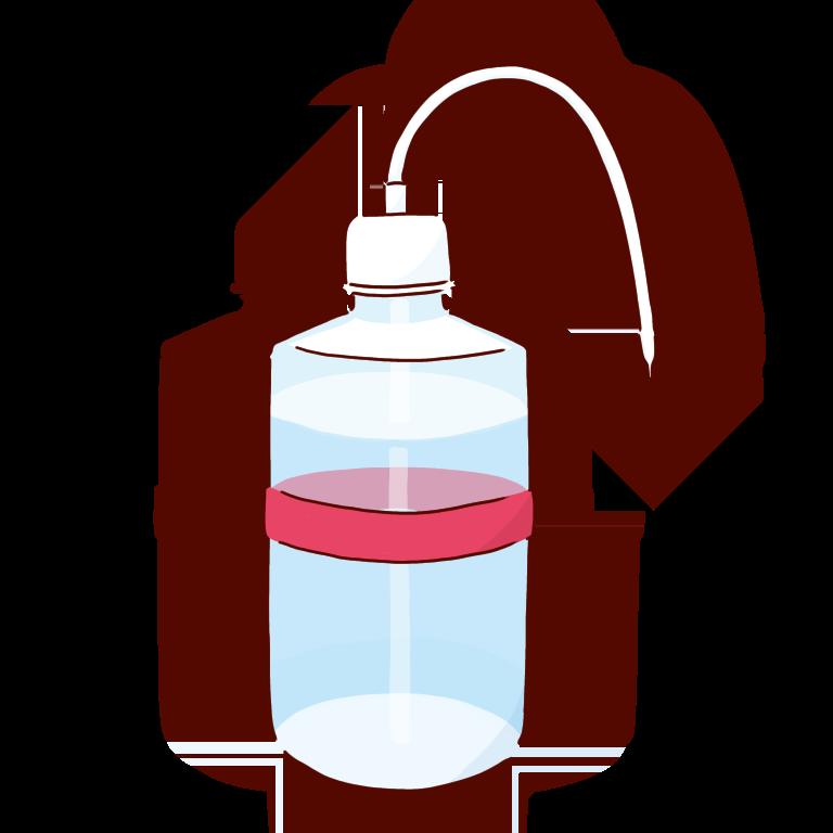 赤い洗ビン