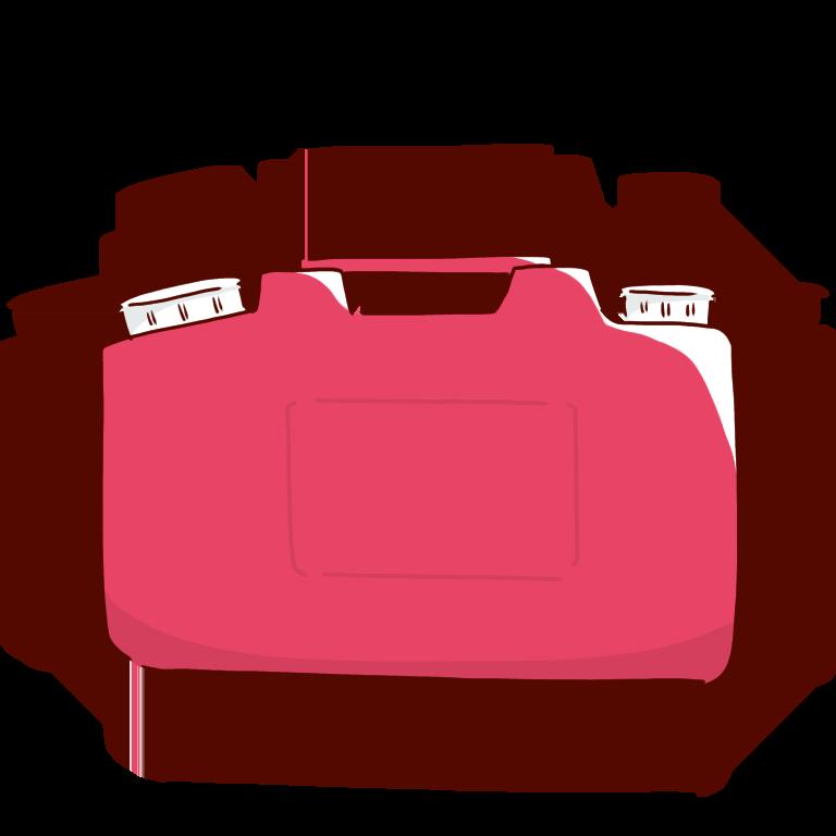 赤い廃液タンク