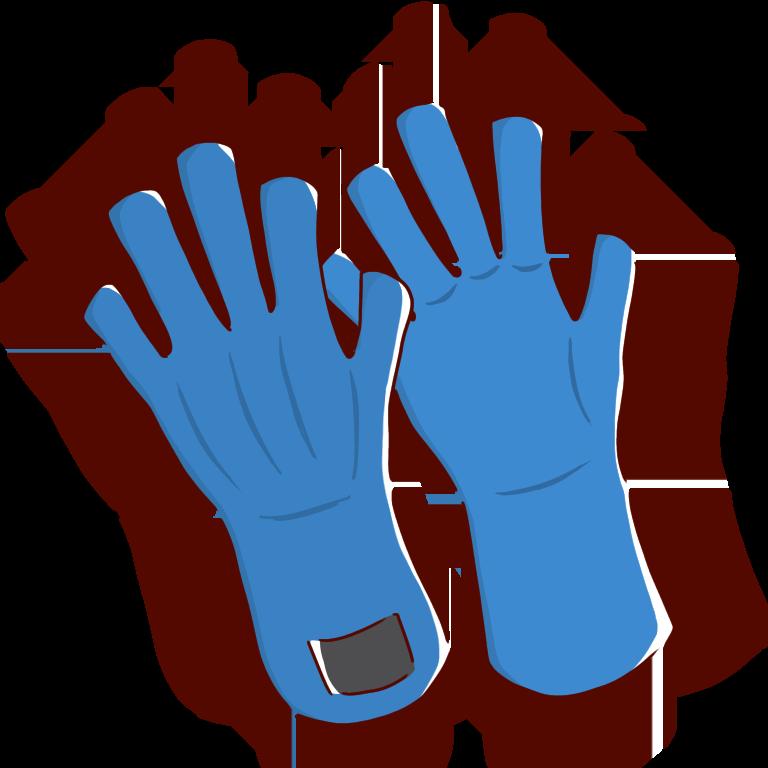 液体窒素用の低温耐性の手袋
