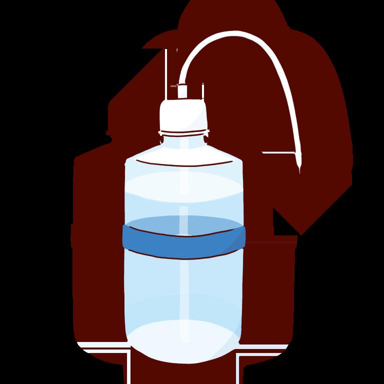 青い洗ビン
