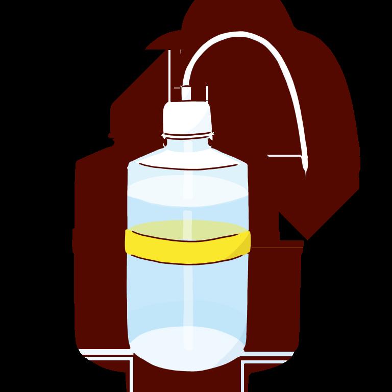黄色い洗ビン