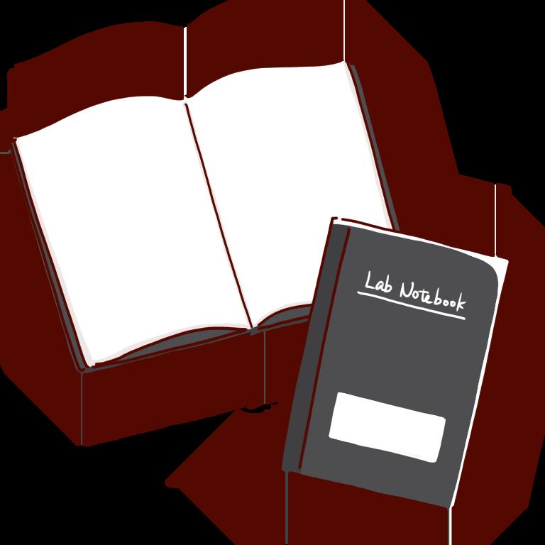 広げた実験ノート
