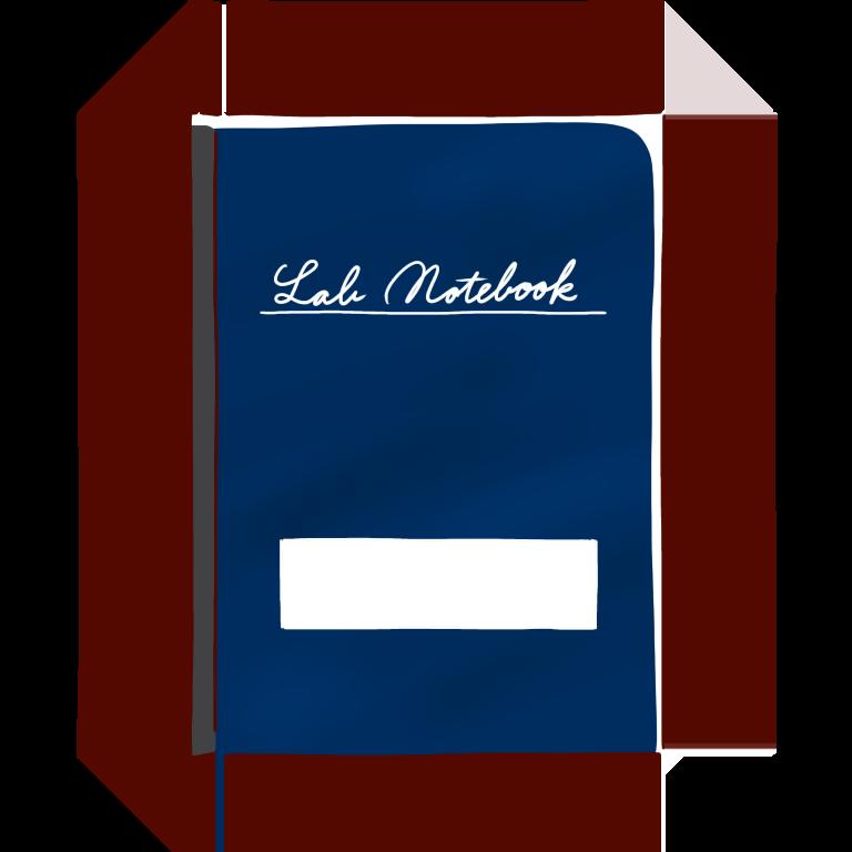 紺色の実験ノート