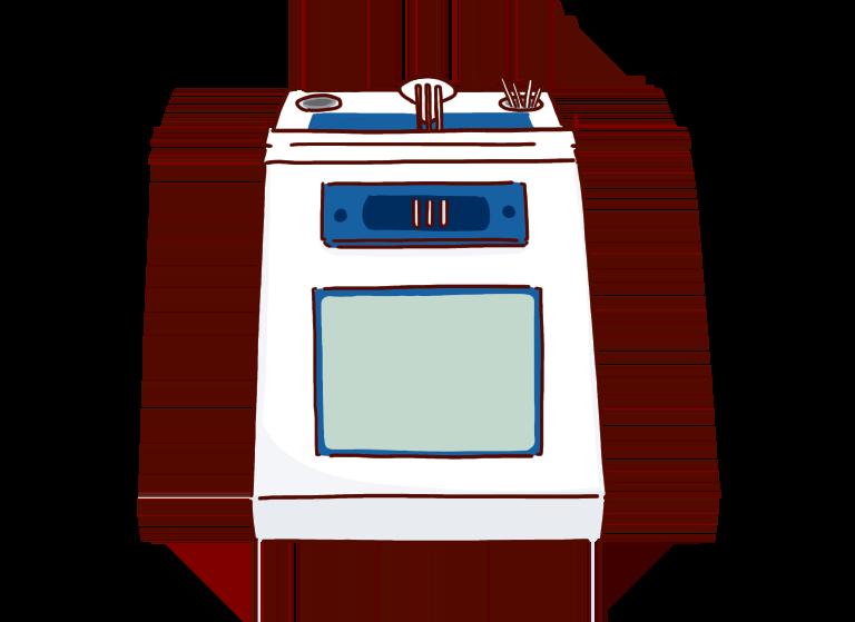 化学イラスト(融点測定器、融点測定中、融点測定装置)